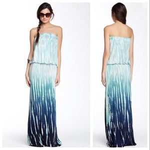 "YFB ""Sydney"" Strapless Tie-Dye Maxi Dress"